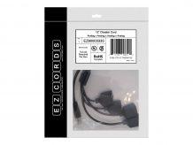 EZCORDS Cheater Cord - network splitter - 1 ft (EZC-EZ80003333)