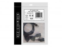 EZCORDS network splitter - 3 ft (EZC-KX-RJ5179)