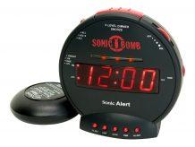 Sonic Alert Sonic Bomb - alarm clock - electronic - desktop (SA-SBB500SS)